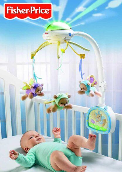 Мобайл-проектор на кроватку «Мечты о бабочках» Fisher-Price напрокат Минск