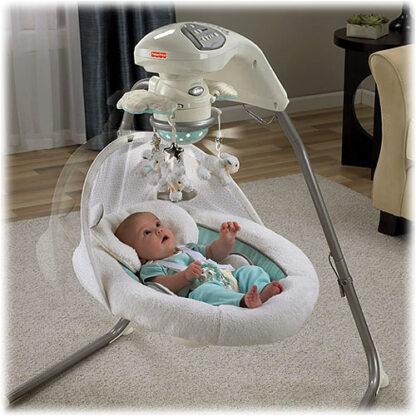 Платиновая модель детских колыбель-качелей «Моя маленькая овечка» Fisher-Price (My Little Lamb Platinum Edition Cradle `n Swing) на прокат 1
